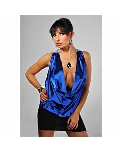 Avanua sensual conjunto de blusa y minifalda azul