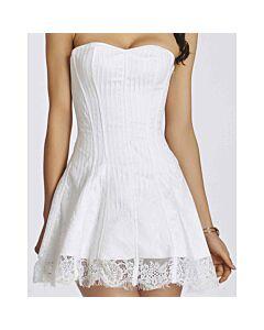Corset con falda floral blanco