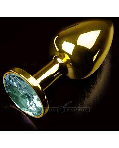 Plug anal jewellery small oro / esmeralda