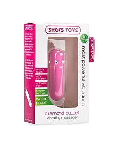 Diamond bala vibradora rosa 10v
