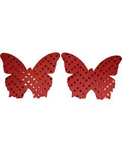 Caramel nuit - pezoneras bright butterfly rojo