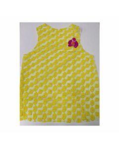 Disfraz mujer corazones amarillo