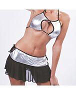 Disfraz cheerleader gris