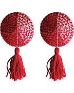 Cubre pezones circulo rojo strass