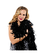 Black feather boa 183 cm