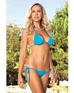 Leg avenue bikini de triangulo con brasileña fruncido turquesa