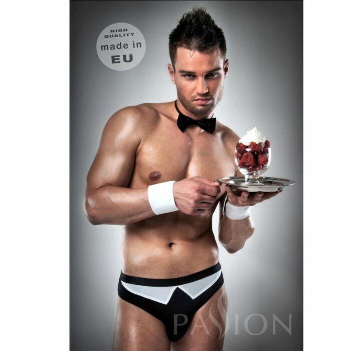 Disfraz camarero 020 sexy blanco/negro  by passion men s/m