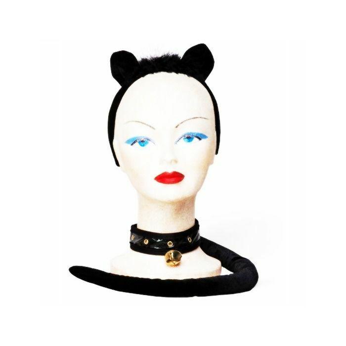 Set gatita sexy negro (3 piezas)