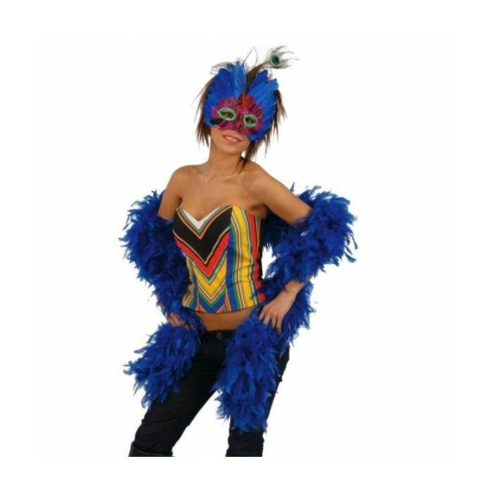 Boa plumas azul183 cm