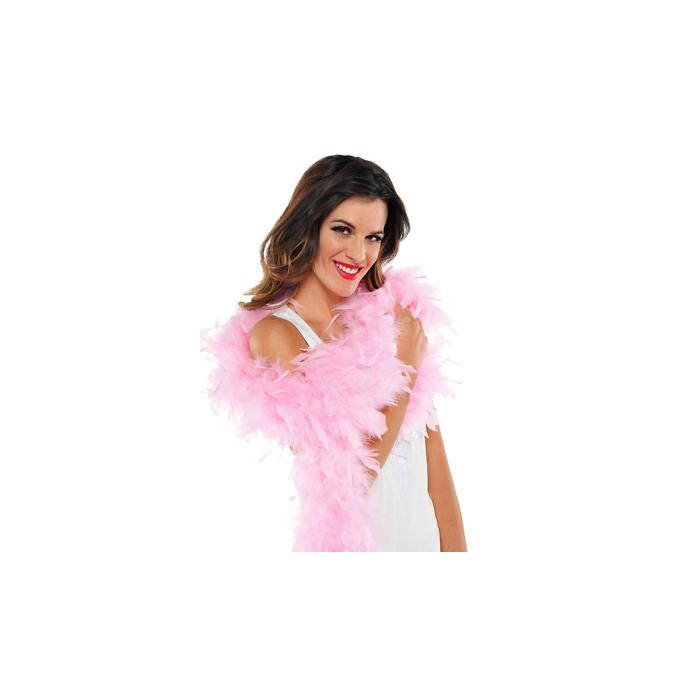 Boa plumas rosa 183 cm