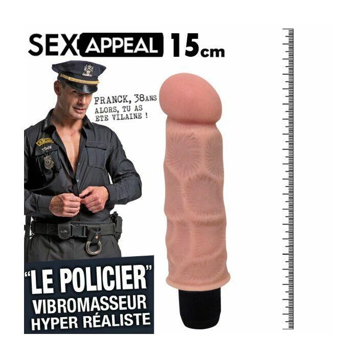 Sex appeal policia vibrador realistico 15cm